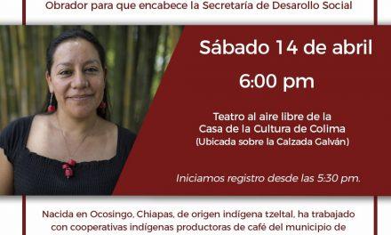 Confirma MORENA visita de María Luisa Albores