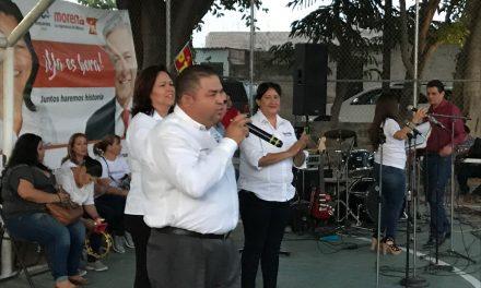 Inicia el recorrido por el distrito7, Guillermo Toscano Reyes
