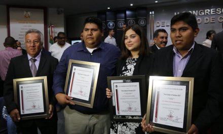 Ganadores del Premio Estatal de Periodismo 2018, en Colima