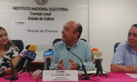 El próximo 7 de junio llegarán a Colima los materiales electorales federales: INE