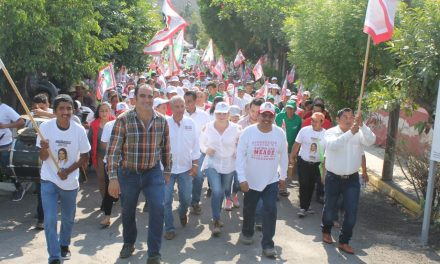 Entusiasmo y algarabía desbordan las brigadas de apoyo a José Antonio Meade, en Tecomán