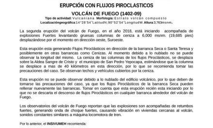 HACE ERUPCIÓN VOLCÁN DE GUATEMALA, SE HABLA DE SIETE MUERTOS DE MANERA INICIAL