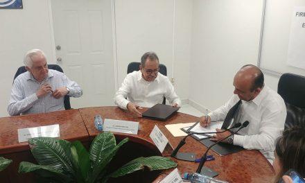 Firman convenio de apoyo y colaboración la Junta Local del INE y Colegio de Notarios del Estado