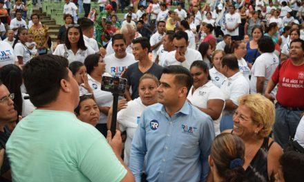 """La eleccion ya está ganada por los colimenses, que son el equipo de Riult, afirma el candidato de la """"Coalición Por Colima al Frente"""""""