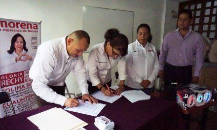 Suscriben compromisos de colaboración  Asociaciones Civiles y candidatos de Morena