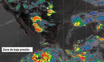 Zona de inestabilidad con potencial ciclónico, al sur de las costas de Colima