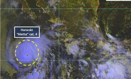 """""""Aletta"""" continua fortaleciéndose y se ha intensificado a huracán categoría 4 en la escala SaffirSimpson"""