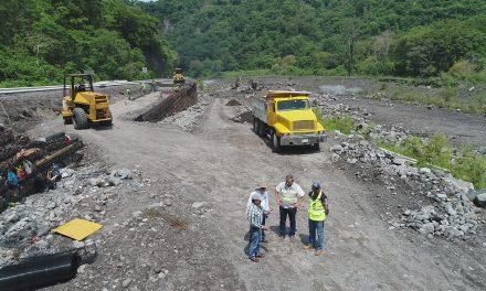Registra avance del 50% construcción del muro de contención del Arroyo La Lumbre