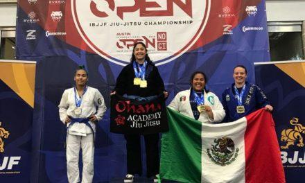 En el abierto de Austin,  logra Marianne Gaviño doble  medalla en Jiu Jitsu brasileño