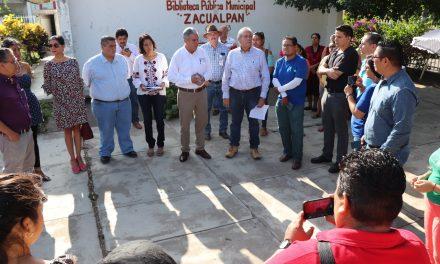 Gobierno Estatal reconstruiráplantel educativo en Zacualpan
