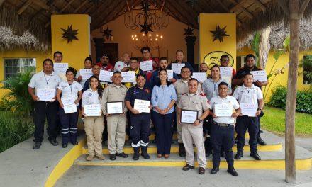 Concluyó curso de capacitación a personal de unidades municipales de protección civil