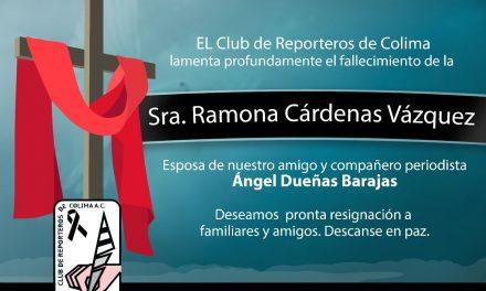 Condolencias a Ángel Dueñas Barajas