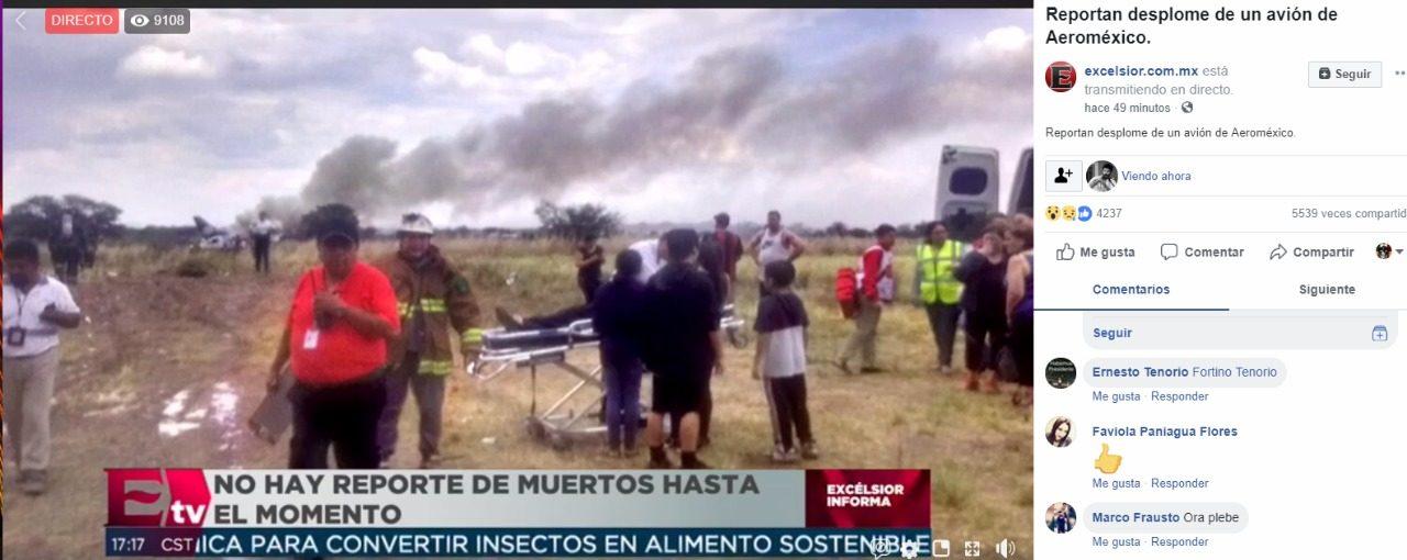 Percance aéreo en Durango: se accidenta avión con 101 personas a bordo; se desconoce si hay víctimas