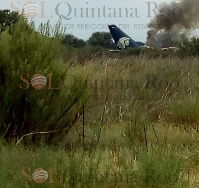 Confirma Aeroméxico accidente aéreo en Durango; no hay víctimas mortales
