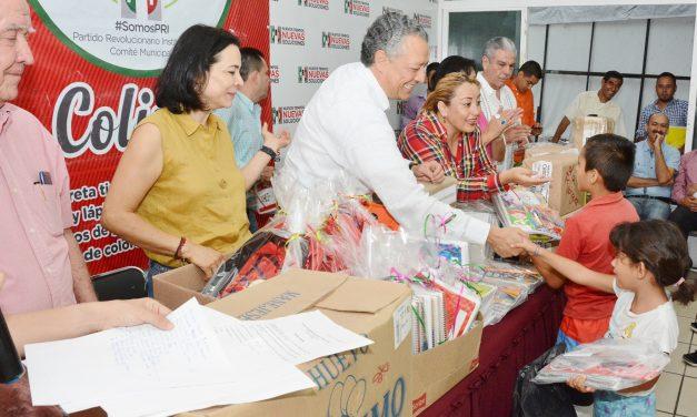 """PRI cierra el """"Libretón 2018, PRImero la Educación""""  con la entrega de útiles escolares en todo el estado"""