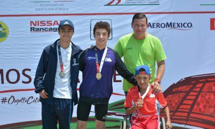 Bronce para Gregorio Chávez y Erick Martínez, en 400 metros libres de Paranatación