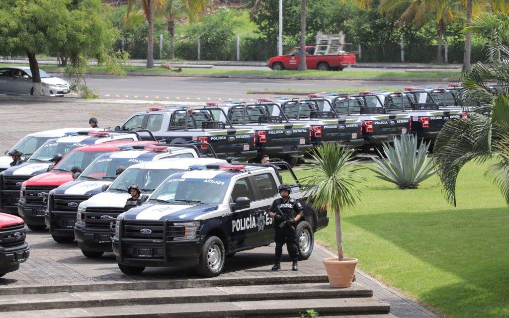 Entrega Gobernador 24 vehículospara fortalecer la seguridad; serán para la SSP y la PGJE