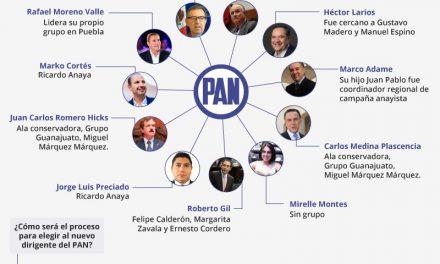 11 políticos y sus grupos en guerra para dirigir al PAN