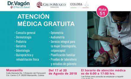 Viene a Colima el Doctor  Vagón: El Tren de la Salud