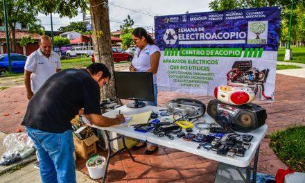 Continúa la Semana de ElectroAcopio en el municipio de Colima