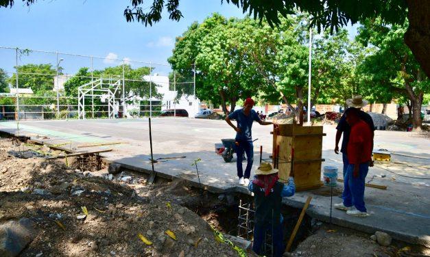 Ayuntamiento de Colima trabaja en el techado de 5 canchas deportivas