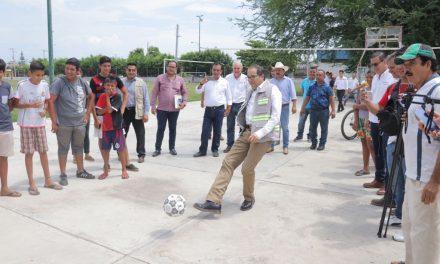 Gobierno del Estado inicia remodelación del parque deportivo en la colonia El Chamizal