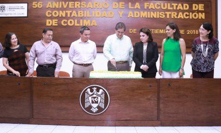 Inaugura rector festejos por los 56 años de la  Facultad de Contabilidad y Administración