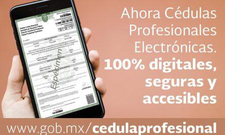 Obtención de Cédula Profesional,  100% en línea a partir de octubre
