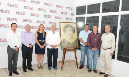 PRI estatal rinde homenaje luctuoso a XXXIII años de la muerte de la maestra Concepción Barbosa de Anguiano