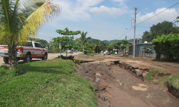 Afectaciones en 29 viviendas  por lluvias en La Central, Manzanillo