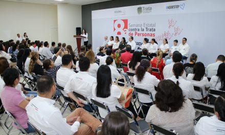 Arranca la Semana Estatal  contra la Trata de personas; Participan más de 80 instituciones en la prevención de este delito