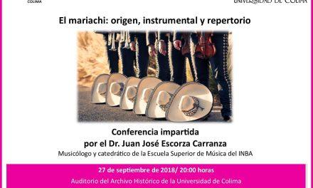 """Invitan a la conferencia """"El Mariachi: Su origen, instrumental y repertorio"""""""