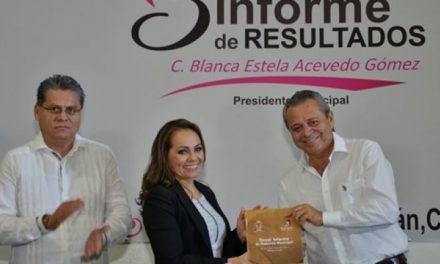 Rinde tercer informe de labores alcaldesa de Ixtlahuacán