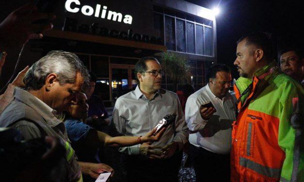 Gobernador atiende  contingencia por lluvias; recorre zonas afectadas y ordena colaborar en labores de limpieza