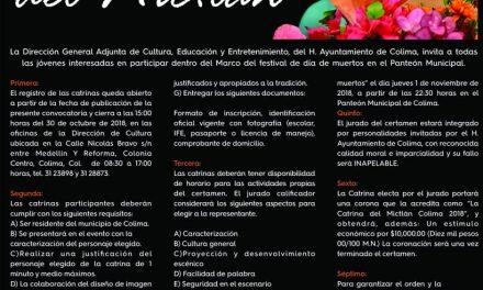 """1 y 2 de Noviembre se llevará a cabo el Festival """"Noche de Muertos"""" en el Panteón Municipal de Colima: Roberto Carrera, Director de Cultura"""