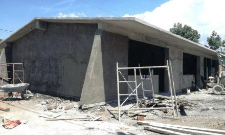 Centro de Educación a Distancia de Zacualpan  con un 70% de avance en su reconstrucción