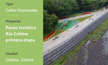Obtiene proyecto Paseo Río Colima,  primer lugar en concurso nacional