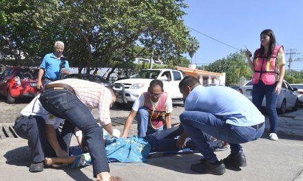 La Universidad de Colima realizó un simulacro en caso de sismo e incendio en la Estancia Infantil