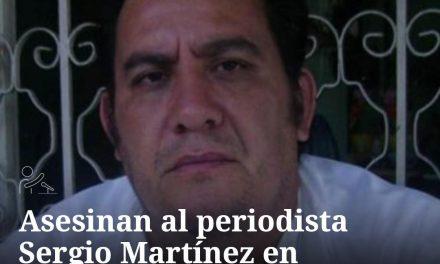 Asesinan al periodista Sergio Martínez en Chiapas