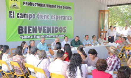 Gobernador Peralta sostiene reunión de trabajo con el Consejo Estatal de Productores Unidos por Colima