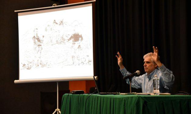 """Caricaturista """"El Fisgón"""" expuso  cartones de Madero en Colima"""