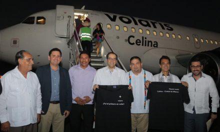 Inaugura Gobernador vuelo México-  Colima-México de la aerolínea Volaris