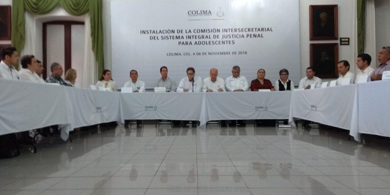 Instala Gobierno del Estado Comisión  de Justicia Penal para Adolescentes