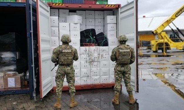 ASEGURA SEMAR 100 KILOS DE COCAÍNA  EN EL PUERTO DE MANZANILLO, COLIMA