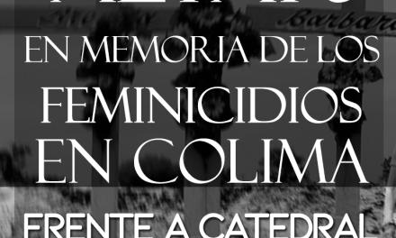 INVITAN A COLOCAR ALTAR EN MEMORIA DE LOS FEMINICIDIOS COLIMA 2018, ESTE DOMINGO