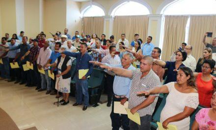 Rinden protesta las autoridades auxiliares del municipio de Colima