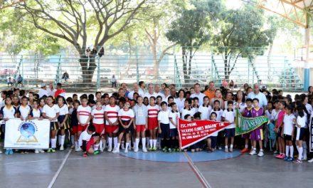 Felipe Cruz y Secretario de Educación Ponen en Marcha Juegos Nacionales Deportivos Infantiles