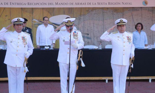 Se realiza entrega-recepción de Mando de Armas de la Sexta Región Naval