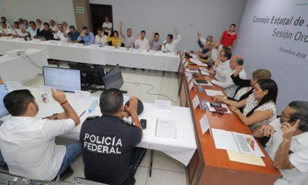 No se puede politizar el  tema de seguridad: JIPS; Instala Sesión Ordinaria del Consejo Estatal de Seguridad Pública