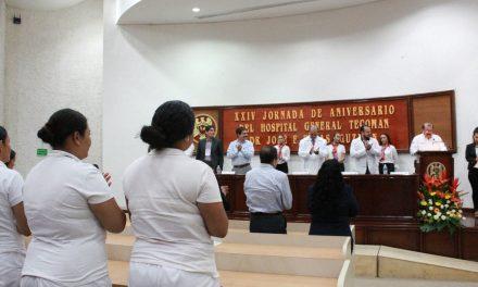 Conmemoran XXIV aniversario  del Hospital General de Tecomán